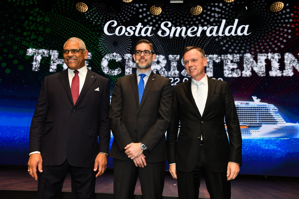 Today in #Savona the naming ceremony of #CostaSmeralda, the new flagship of @CostaCruises powered by #LNG and ambassador of Italian excellence. #SensationalSmeralda