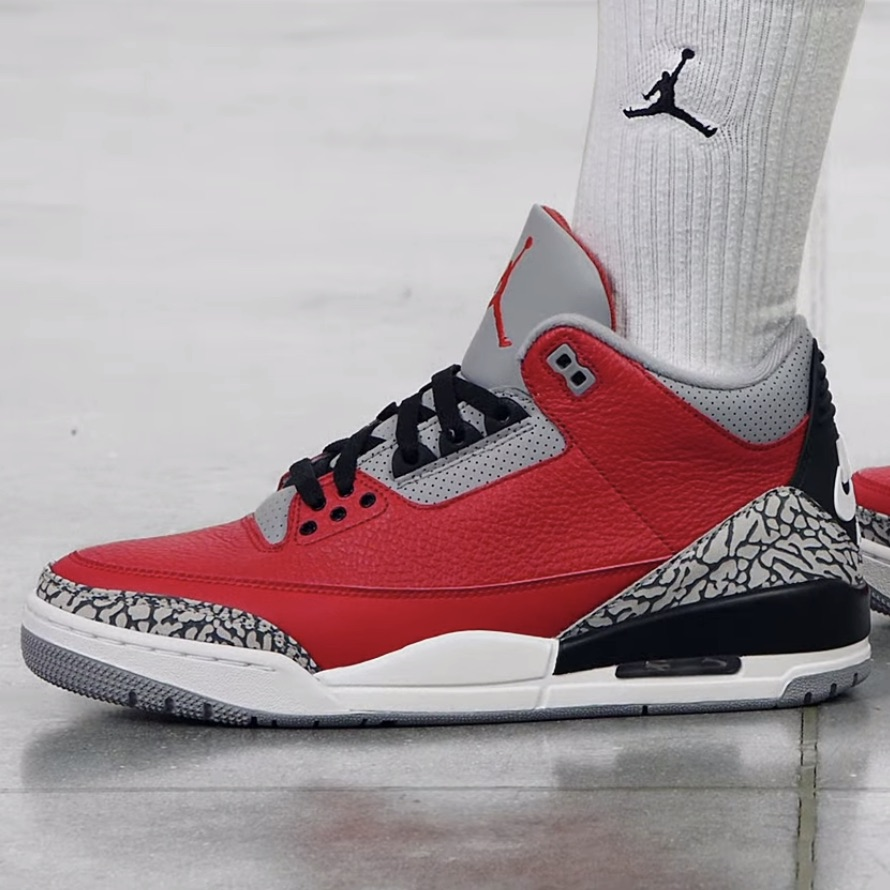 """Jordan 3 Retro """"Red Cement"""" with NIKE AIR all sizes on @nikestore  Link ->"""