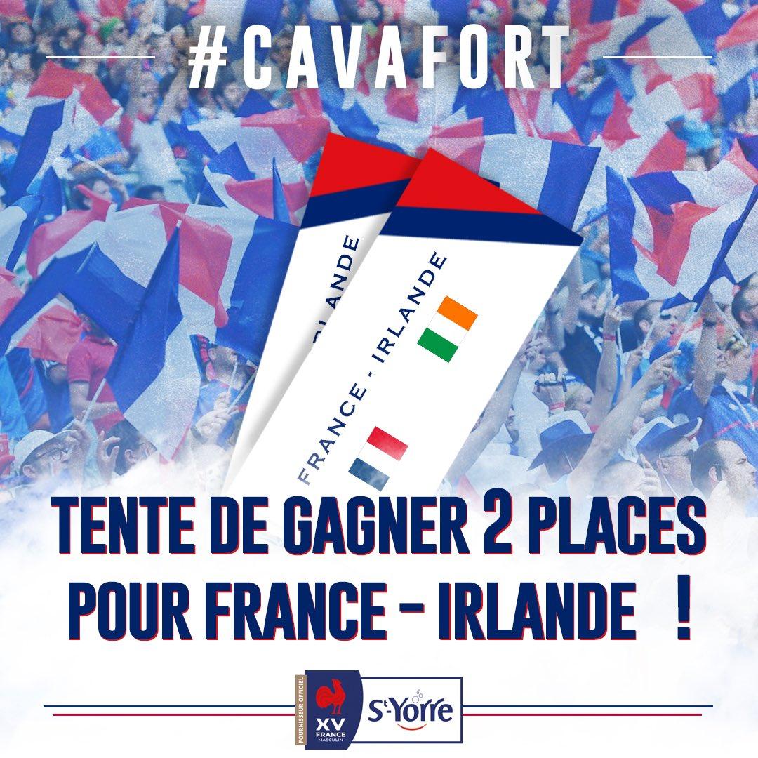 🎁 CONCOURS 🎁  🔥🔥TENTE DE GAGNER TES 2 PLACES POUR FRANCE - IRLANDE 🔥🔥  Pour participer il te suffit de : 🔁 RT  ✅ Follow @styorreFR   ⏰ Match le 14/03 - 21.00 🏟 Stade de France    #Soifdevictoire #FRAIRL #GALFRA