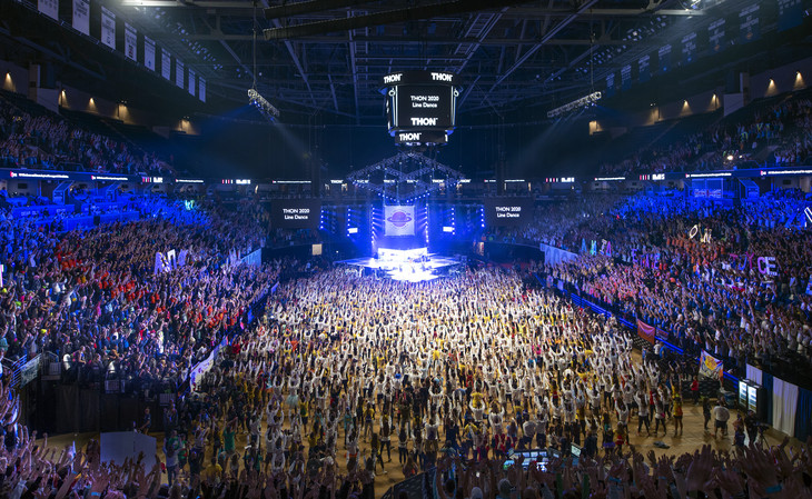 .@THON 2020 officially kicked off Friday evening at Penn State's Bryce Jordan Center. #FTK 🎗 https://t.co/bpaIKuV0XU