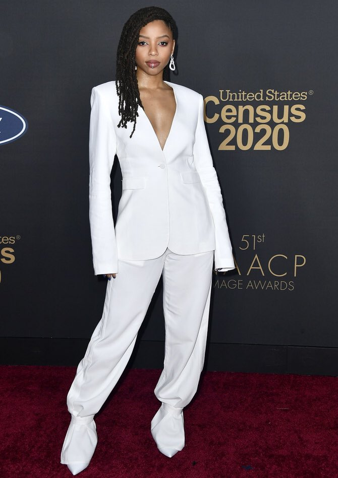 Chloe Bailey at the 2020 #NAACPImageAwards 💕