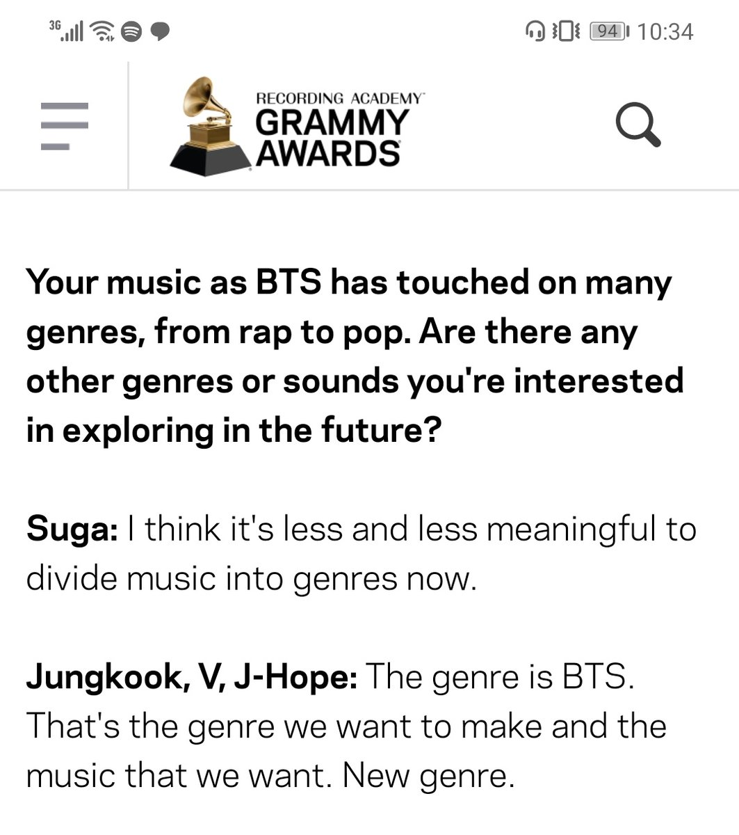 'The genre is BTS. That's the genre we want to make and the music that we want. New genre.' - Jungkook, taehyung & hoseok.  Oofff did you hear it? BTSPOP