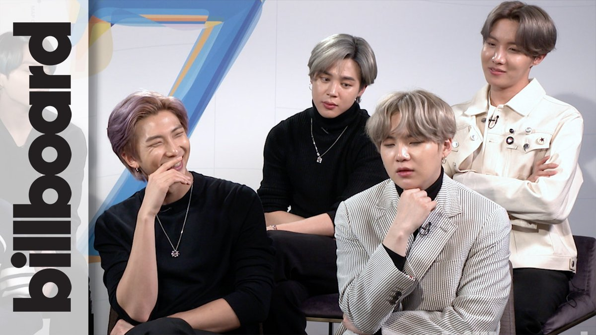 """.@BTS_twt discuss their favorite lyrics on #MAP_OF_THE__SOUL_7, what their song """"ON"""" means to them, what their best memories from creating the album are and more."""