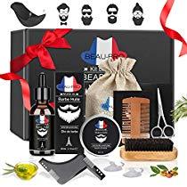 Dernières Minutes !! 19,99 € au lieu de 49,99 €  Kit de Soins de Barbe, Kit Soin Barbe 9 pièces Cadeau Idéal pour...  #soldes #bonplan