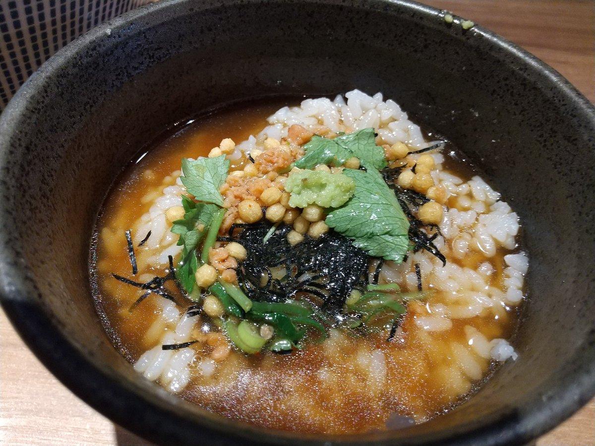 test ツイッターメディア - 黒旨ワンタン麺にピッタリしめごはん🍜旨いものには言葉は無用。 完食汁完🤪 https://t.co/s3UsfBaevk