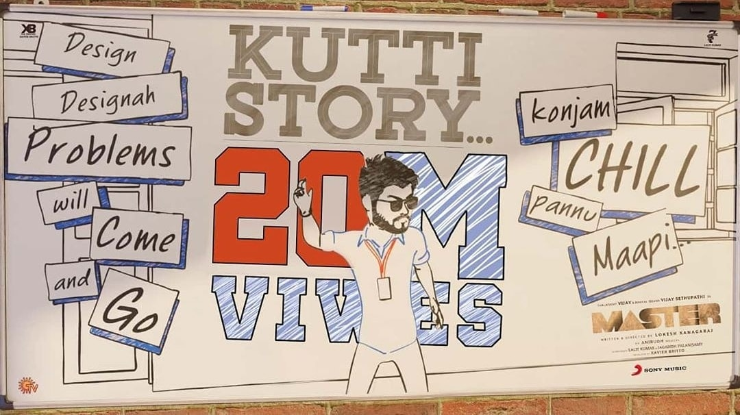 #KuttyStory hitting the 20 mil mark on YouTube! Are you ready for the other songs? 🔥 🔥 🔥 @SonyMusicSouth @musicmantrasmm @sonymusicindia