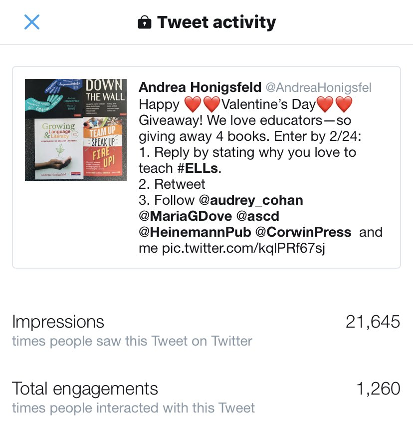 test Twitter Media - Thank you, everyone, for your interest in our work! Amazed at the power of social media! ⁦@audrey_cohan⁩ ⁦@MariaGDove⁩ ⁦@CorwinPress⁩ ⁦@ASCD⁩ ⁦@HeinemannPub⁩ https://t.co/iYtazGK6Yf