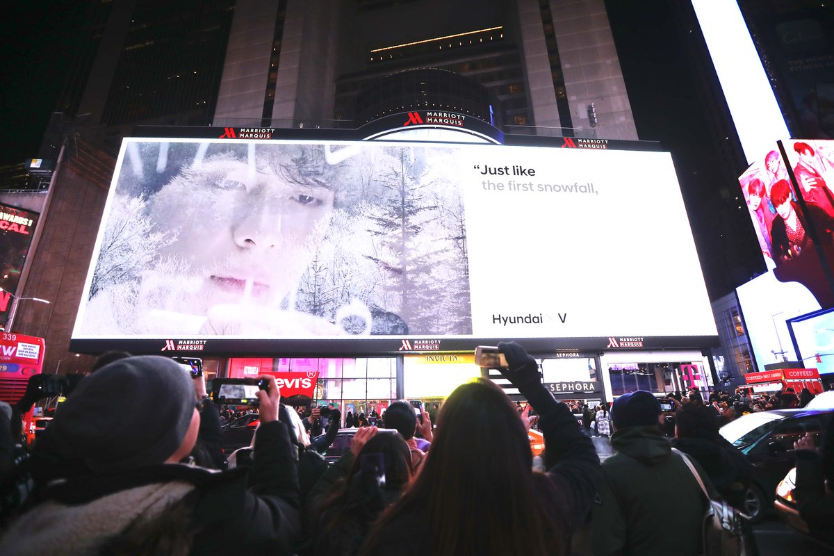 Have you spotted @Hyundai_Global X @BTS_twt taking over Times Square, NYC?