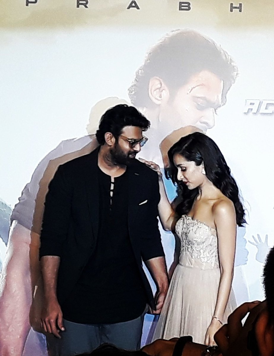 My most favourite picture from #Saaho promotions....they r a dream together 😍❤ #Throwback #Prabhas @ShraddhaKapoor