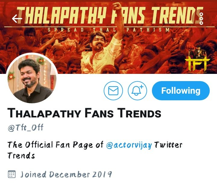 Nearly Reached 1K  @Tft_Off   It's just a Beginning 😘😍  #TFT  💥💥  #Master @actorvijay   Thanks for Your support Guys