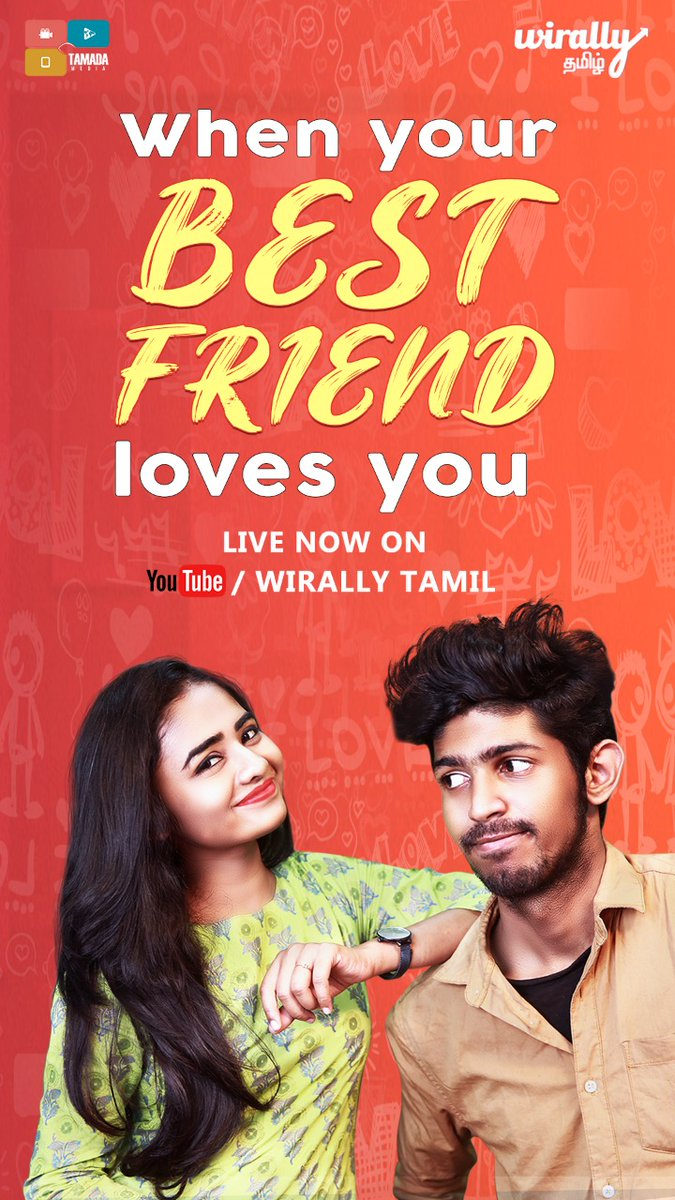 #WhenYourBestFriendLovesYou   A short & cute love story ft. #VishalSubramanian @SharnitaRavi    Directed by @GunAa_DIR - best wishes thambi, happy to see you go behind your passion.