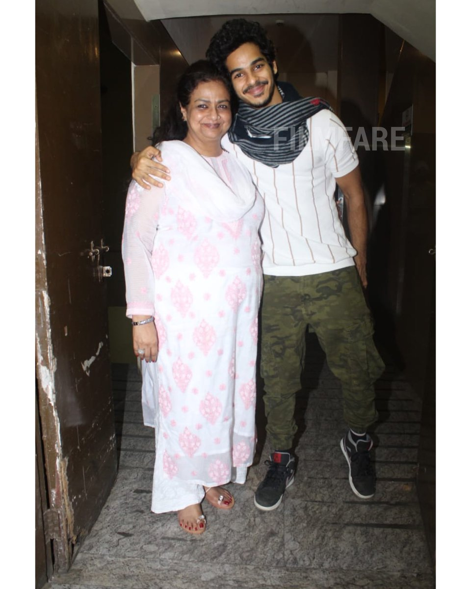 #IshaanKhatter enjoys a movie night with his mother Neelima Azeem.