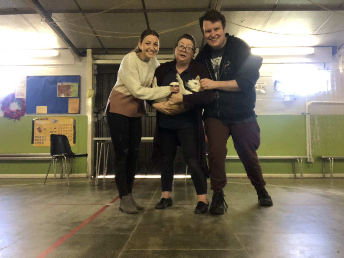 We had ourselves a little visitor at Sherlock Holmes rehearsal today! The beautiful little Titch! 🐶  #sherlock #sherlockholmes #stage #play #theatre #actresses #actors #dogs #pets #dogsofinstagram