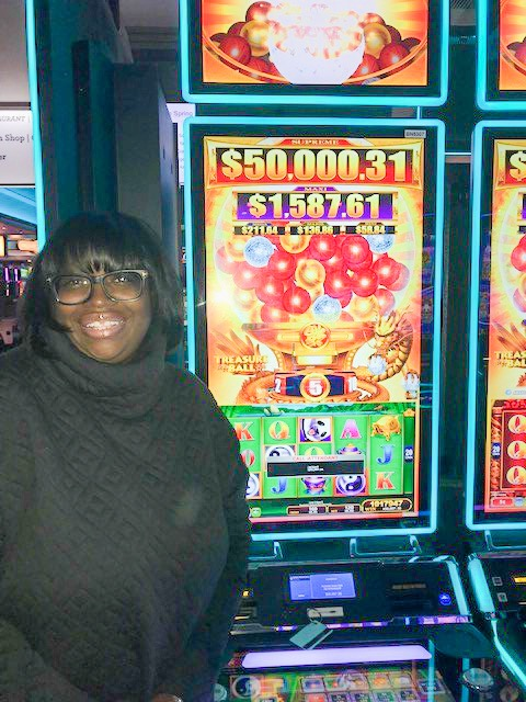 Say cheese, Clette! You just won $50,897.36 on @Konami's Treasure Ball! 🤩 👏 🎰 LIKE to congratulate her. #AllThrill Bet: $6 Location: Second floor near Guest Services  See more Winners here >>