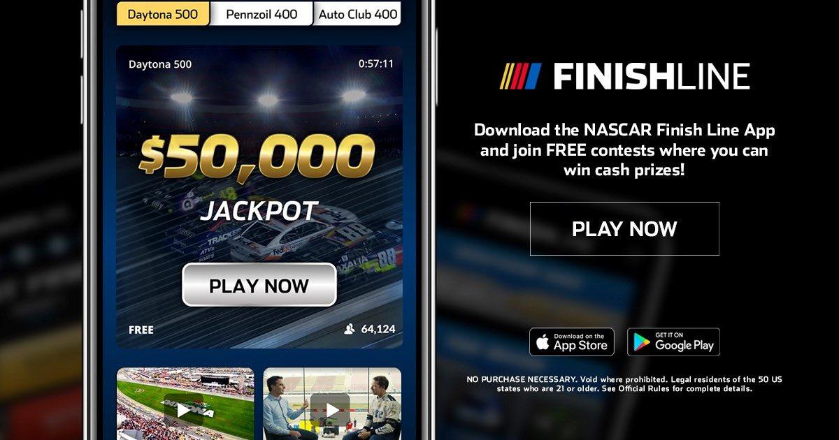 ☑️Download NASCAR Finish Line ☑️Make picks ☑️Win prizes!   Download for Free: