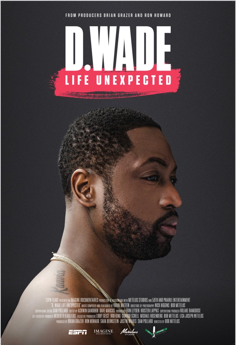 D.Wade: Life Unexpected comes on tonight 9pm est on @espn. I shared a lot of life moments and I wanna hear your thoughts!!! Talk to me using hashtag #LifeUnexpected.