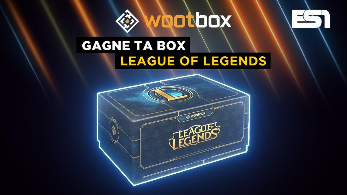 🏆 CONCOURS : @wootbox_fr 🏆  🎁 Gagne ta box #LeagueOfLegends : 4 produits officiels et exclusifs d'une valeur de 70€ !  🎮 Pour jouer : Follow @ES1tv / @wootbox_fr + RT ce tweet  Fin le 01/03/2020 à 12H. Règlement :