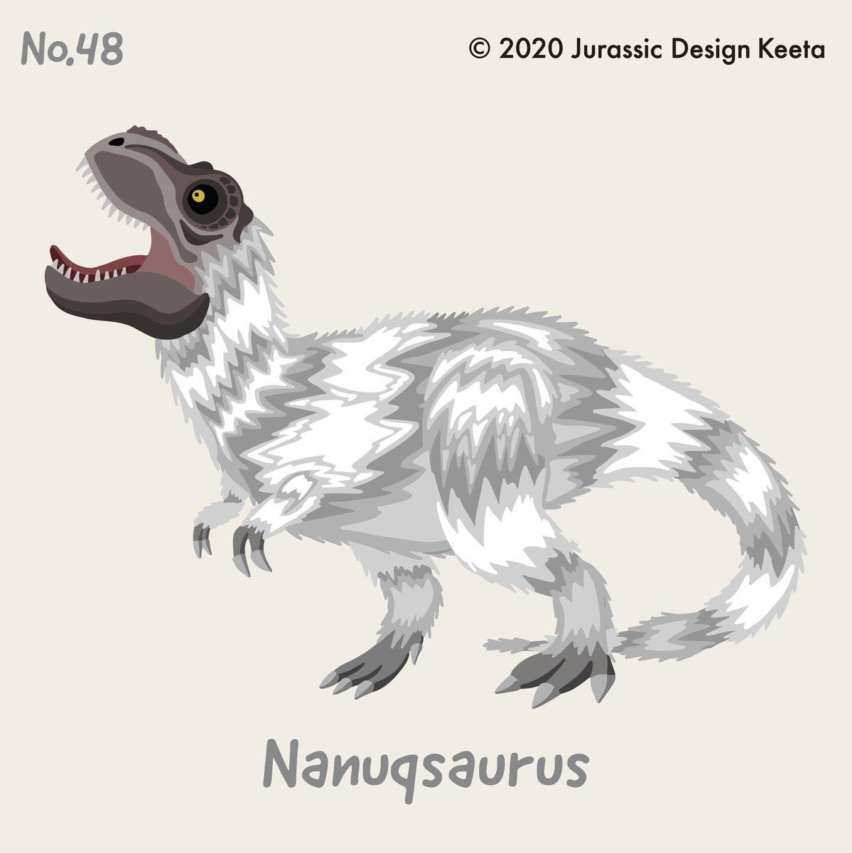 test ツイッターメディア - No.048❗️ Nanuqsaurus🌵 ナヌークサウルス🦖 ・ 極寒の地で生息していたため 羽毛が生えていたんじゃないかと言われているヤツ🦖 ・ 先週から公開の ダーウィンが来た!恐竜超伝説 でも出てくる恐竜!これから人気出るかも🤔 #ナヌークサウルス #Nanuqsaurus #恐竜 #dinosaur https://t.co/FKLbPjED9W