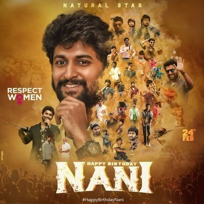 Wishing you a very very happy birthday to you my dear bby @NameisNani 😍🥰🥰💐  All Most My Fav Hero (Telungu)  Behalf of @KeerthyOfficial papa fans 😍