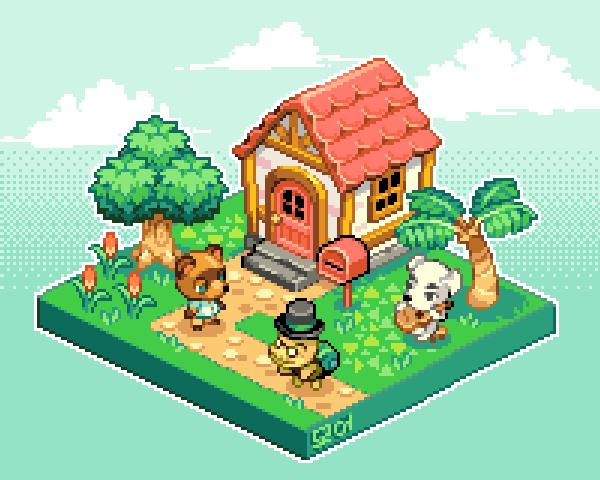 it animal time #AnimalCrossing #pixelart