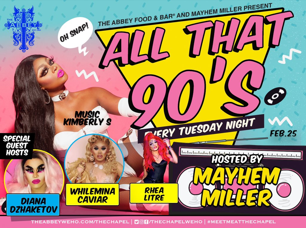 It's about to go off on TUESDAY at @TheAbbeyWeHo