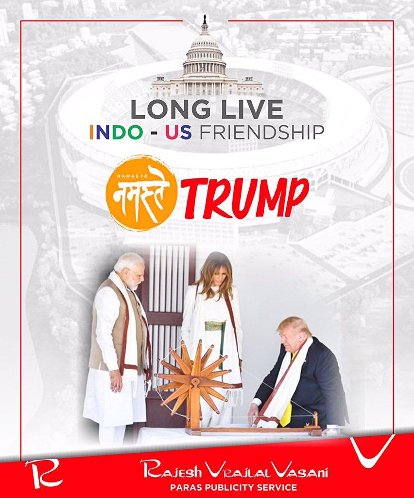 || अतिथि देवो भव || #NamasteTrump @realDonaldTrump @POTUS @IvankaTrump @USAndMumbai @realDonaldTrump @USAndIndia @PMOIndia @narendramodi @BJP4India @BJP4Maharashtra @bjp4mumbai @BJP4Gujarat