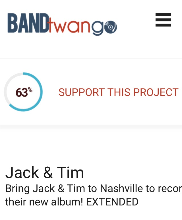 Hey friends !!! 63%  we are soooo close 😍👍🏻 If you can spare a little please help us reach 💯 % !! Campaign will be closing soon !  It's all or nothing so let's do this ! 😍  Link in bio !  #bandtwango #crowdfunding #jackandtim #goldenbuzzer #britainsgottalent