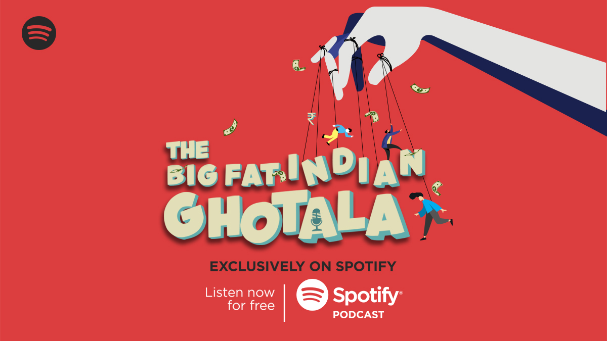 """Bigger ghotalas than your friend's """"Reaching in 5 minutes"""", only on #TheBigFatIndianGhotala - A Spotify Original Podcast. Listen now  @audiomaticIN"""