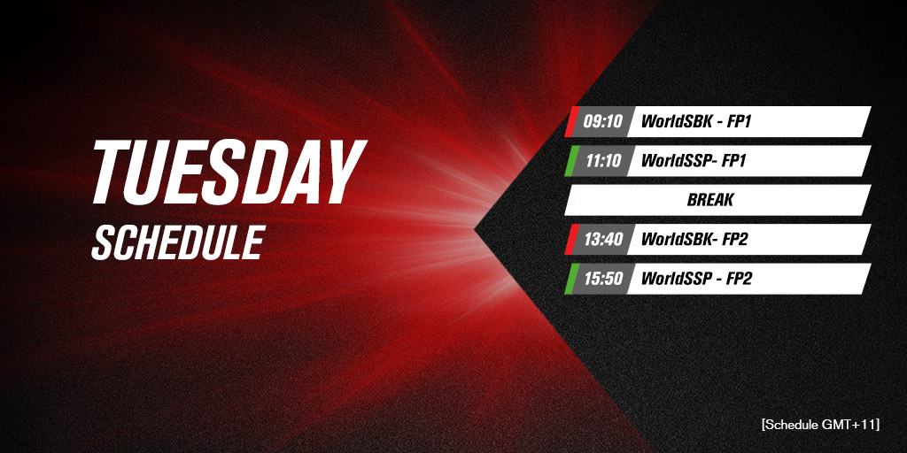test Twitter Media - 🇦🇺Official Test | Tuesday Schedule  Last day of testing awaits!   ⏰|#WorldSBK https://t.co/7DQb5dYoqL