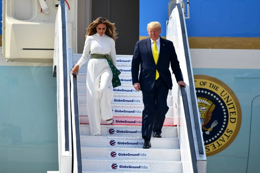 Honored to welcome President @realDonaldTrump and @FLOTUS to India.  This is the President's and First Lady's first official visit to India. Under President Trump's leadership, the #USIndia partnership continues to get stronger! #NamasteyTrump @WhiteHouse