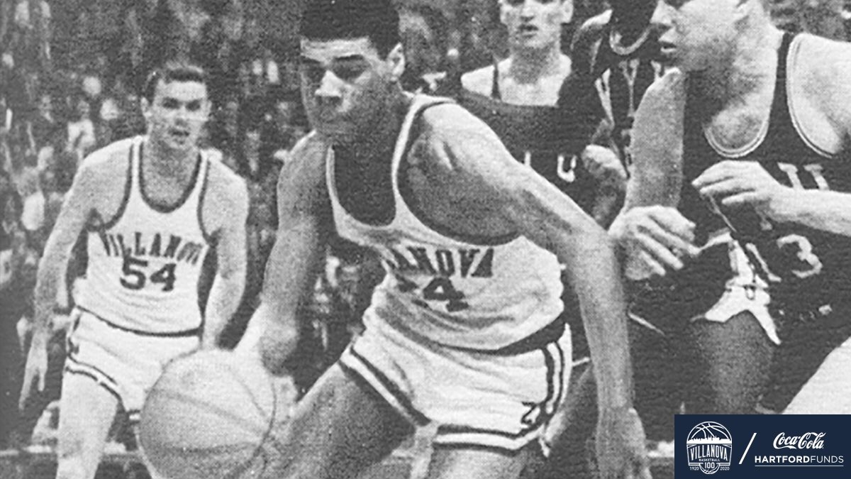 """#NovaMBB100 Moments: March 16, 1962 - In an NCAA Tournament East Regional semifinal, the 'Cats edged NYU, 79-76. Wali Jones was selected to the All-Eastern Regional team. Noted Kraft: """"No coach could ever hope to have a more complete or unselfish player than Wali Jones."""" https://t.co/Ala3HH3hGl"""