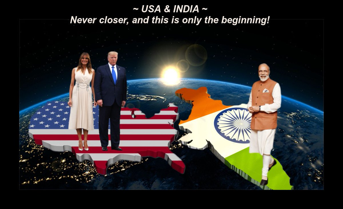 @Lrihendry @realDonaldTrump President Trump & Prime Minister Modi have brought the USA and India closer in friendship than ever before, and that's a great thing for both of our countries!