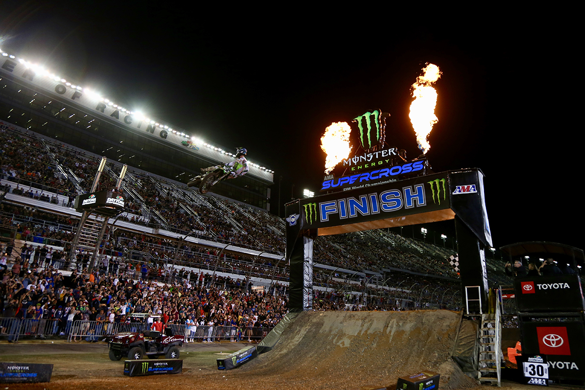 We want to know: Have you ever been to the DAYTONA Supercross?  #DAYTONASX