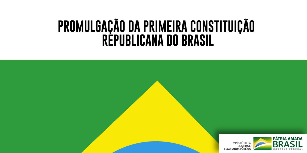 A publicação da 1° Constituição brasileira republicana é comemorada no dia 24/2. A Constituição de 1891 trouxe o regime democrático e criou os poderes Executivo, Legislativo e Judiciário. Visite a galeria do Arquivo Nacional e veja cópia da constituição: