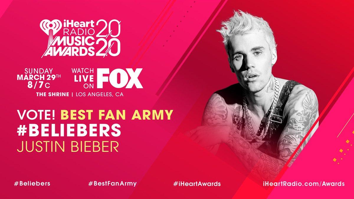 ❤️ @justinbieber ❤️  #Beliebers #BestFanArmy #iHeartAwards