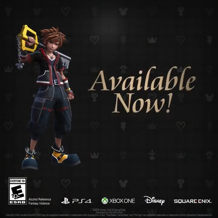 The #KingdomHearts III Re Mind DLC is out now on #Xbox One!   Haven't finished the base game just yet? Don't worry - #KingdomHearts III is available today on #Xbox Gamepass.  More info on Re Mind: 👉
