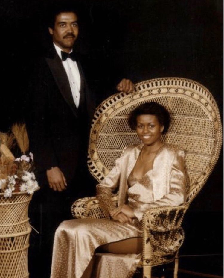 Michelle Obama inspires celebrities to participate in the #PromChallenge by sharing their old prom photos. The challenge encourages high school students to register to vote. Which celebrity throwback photo is your favorite?