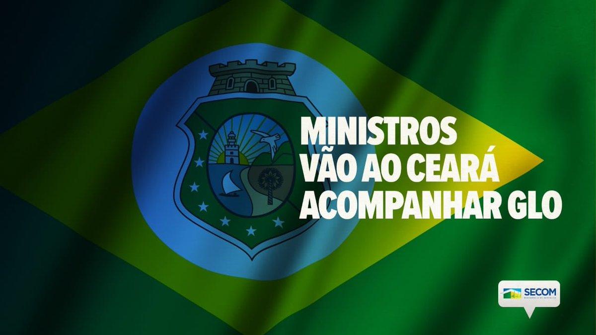 O Governo garante a proteção de seus cidadãos e por determinação do presidente @jairbolsonaro, enviou os ministros da @DefesaGovBr, Fernando Azevedo, da @JusticaGovBR, @SF_Moro, e da @AdvocaciaGeral, @AMendoncaAGU,ao Ceará para acompanhar a Operação de Garantia da Lei e da Ordem.
