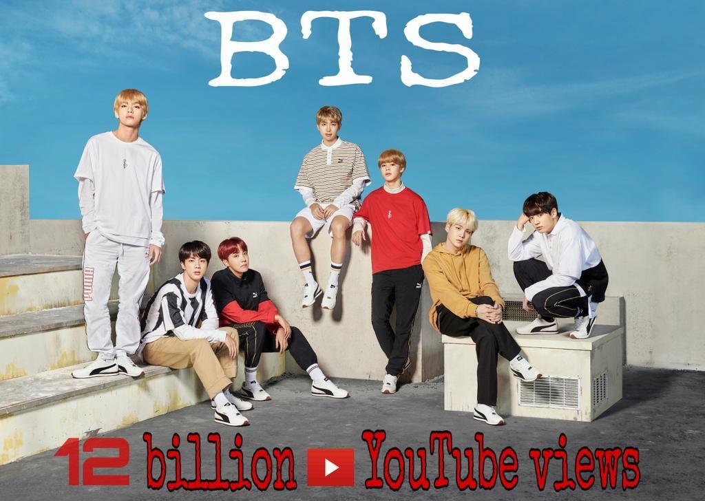 200224|معلومة:  تجاوز بانقتان 12 مليار مشاهدة على اليوتيوب (مقاطع الفيديو الرسمية)🎉.   @BTS_twt #BTS  - l