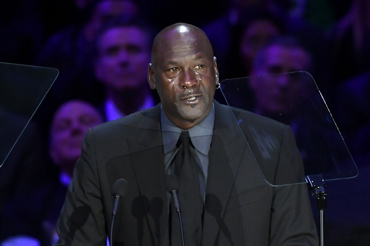 """Michael Jordan delivered an emotional speech at Kobe & Gianna Bryant's memorial service: """"When Kobe Bryant died, a piece of me died."""""""