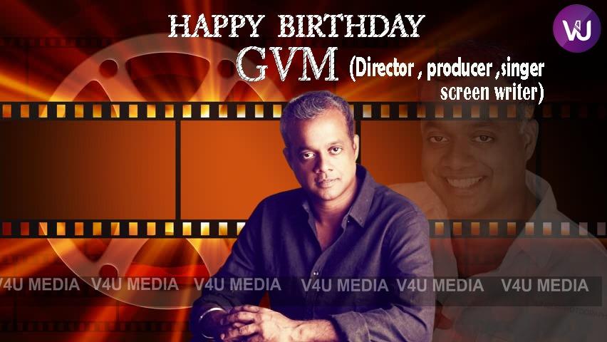 Birthday Wishes To Director #GVM Sir 😊🎂🍰  Best Wishes for your Upcoming Flicks & Have a Great Year Ahead😍👍  #HBDGauthamVasudevMenon  #HBDGauthamMenon  #HappyBirthdayGVM  Warm Regards, Team @V4umedia_ & @RIAZtheboss   @menongautham