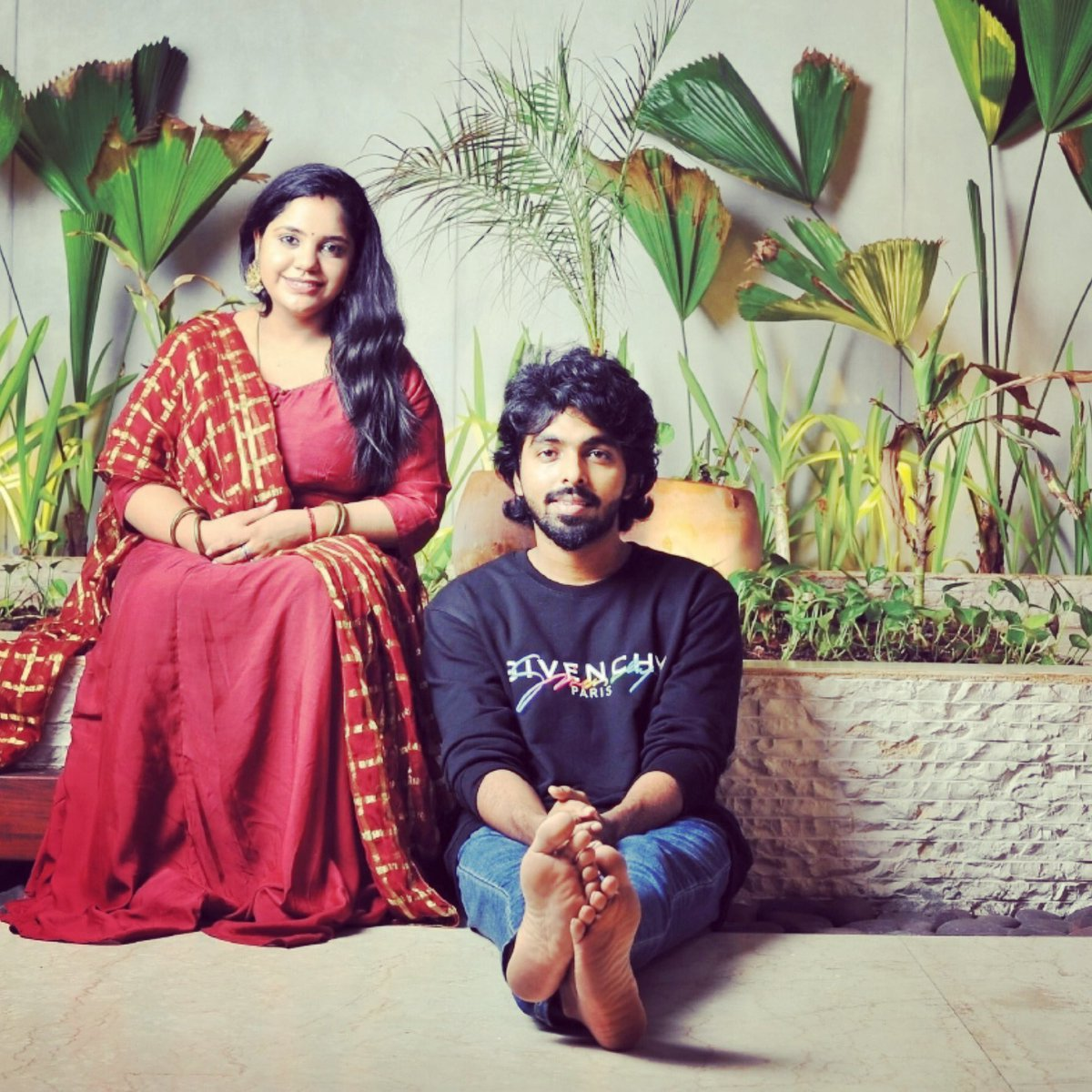 At sweet #home ✨✨ @singersaindhavi