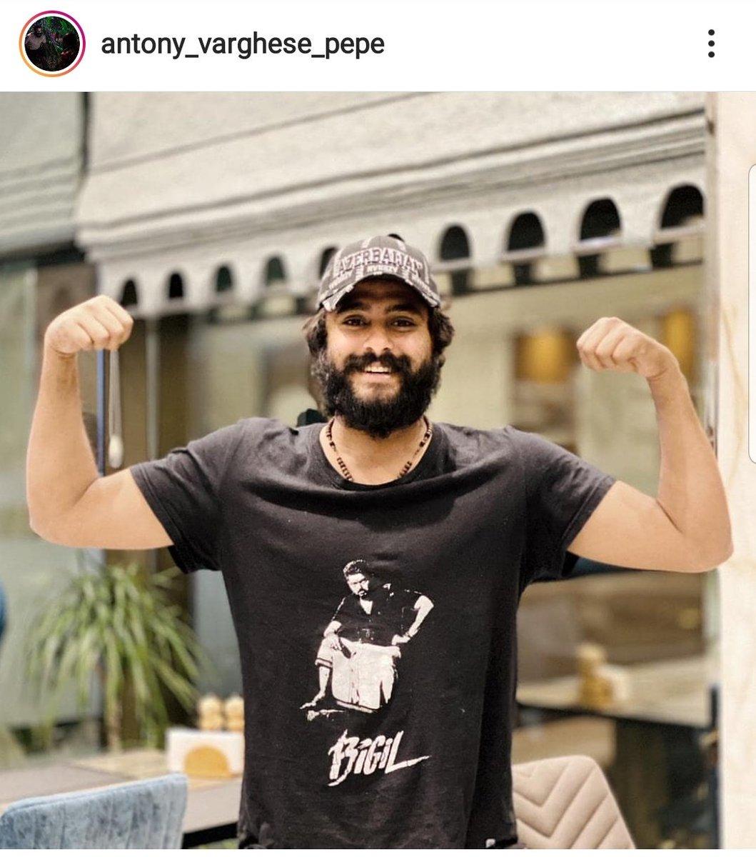 Malayalam Actor Antony Varghese via Instagram !  #Master @MasterMovieOff!