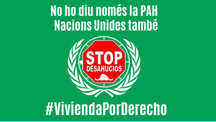 Arranca la nova campaña de la PAH. Perquè no ho diu només @LA_PAH, NNUU ens dóna la raó. #ViviendaPorDerecho és un pas més en el nostre recorregut per fer efectives les exigències i recordar a @desdelamoncloa que han de fer un pas ferm i cumplir els dictàmens que ho deixen clar. https://t.co/B4CJyRZB9E