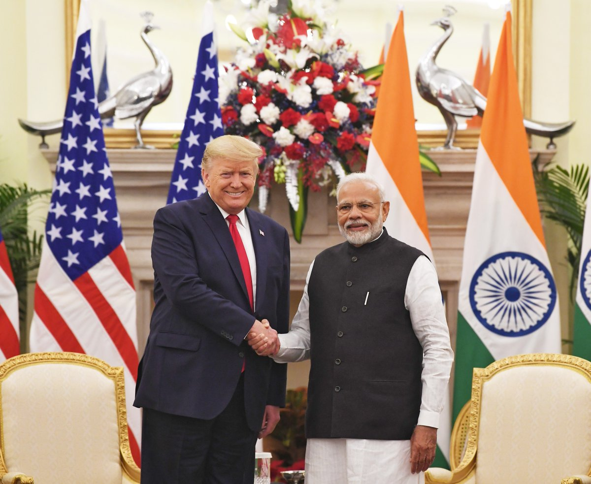 Yet another excellent meeting and talks with my friend @realDonaldTrump.  Relations between India and USA are not merely ties between two governments. Ours is a friendship that is people-driven and people centric.  Our nations are cooperating extensively, which is a great sign. https://t.co/VPA8jdhAtI