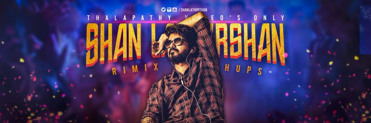 Excited to launch Shan Lathurshan 's new Youtube channel ... A #Thalapathy exclusive remix & mashup ... Do click the link & hit the subscribe button ...  My best wishes for his channel ...