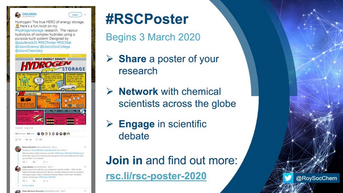Want to showcase your chemistry? Want interactive discussions? Well soon it'll be @RoySocChem #RSCPoster 2020 day: 3 March Details here: