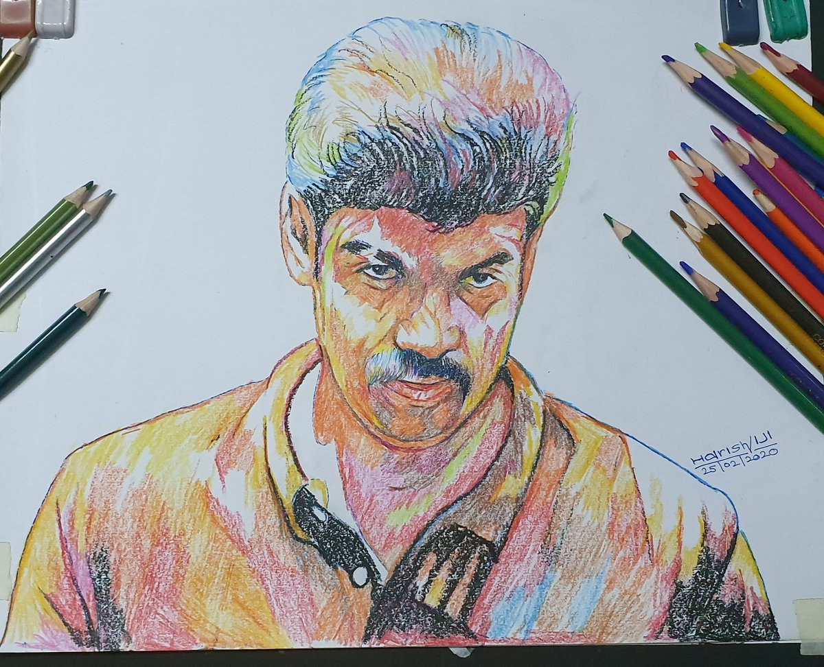 @Sibi_Sathyaraj My Gift For u Colour Pencil Work Watch Full Video Art Click Here