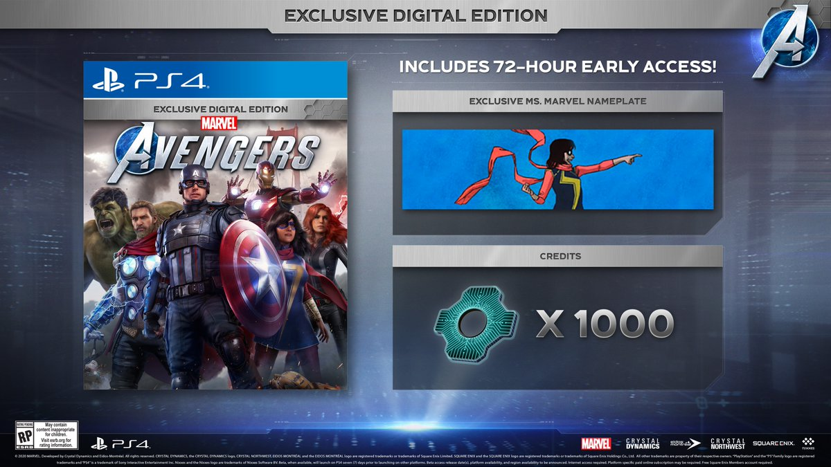 Additional benefits await players of Marvel's Avengers on @PlayStation including an exclusive nameplate, Ms. Marvel emote, #PS4 theme and more!   #EmbraceYourPowers #Reassemble #GreatnessAwaits @PlayAvengers