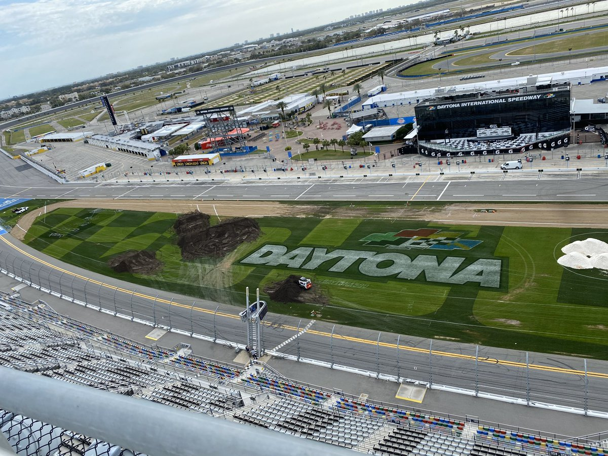 The build continues for the 50th #DAYTONASX, including that famous Daytona Beach sand section!